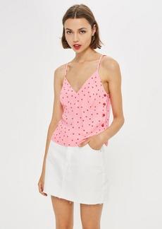 Topshop Spot Print Button Camisole Top
