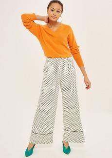 Spot Print Wide Leg Pants