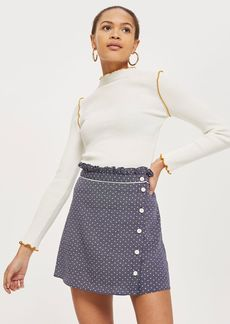 Spot Ruffle Mini Skirt