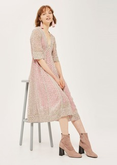 Spotted Midaxi Dress