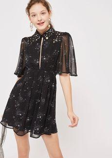 Star Embroidered Skater Dress
