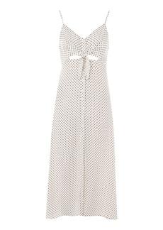 Topshop Star Print Knot Front Midi Slip Dress