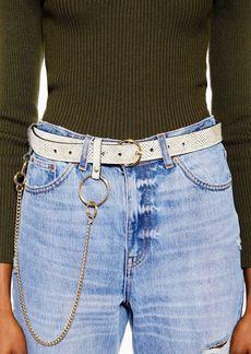 Topshop Stingray Printed Chain Belt
