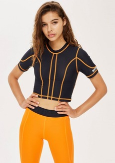 Topshop Stitch Mesh Crop Top By Ivy Park