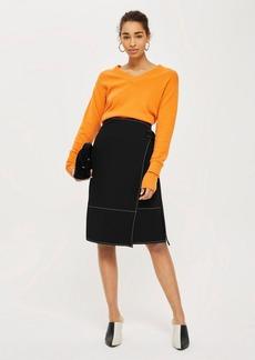Topshop Stitch Wrap Skirt