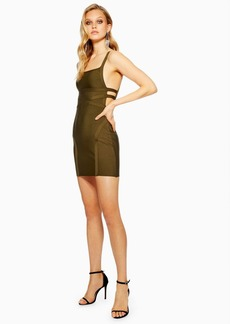 Topshop Strap Side Bandage Bodycon Dress