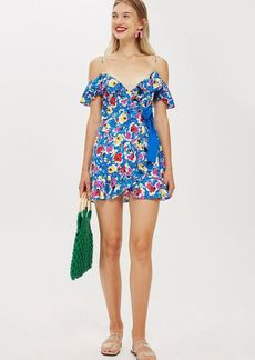 Topshop Strappy Floral Mini Dress