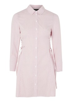 Topshop Stripe Corset Shirt Dress