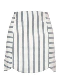 Stripe Giant Scallop Skirt