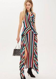 Topshop Stripe Halter Midi Dress