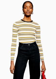 Topshop Stripe Knitted Jumper