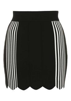 Stripe Scallop Skirt