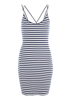 Topshop Stripe Strap Bodycon Mini Dress
