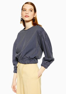 Topshop Stripe Sweatshirt Top