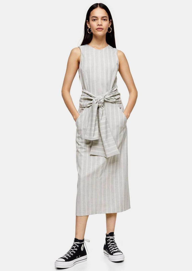 Stripe Wrap Dress By Topshop Boutique