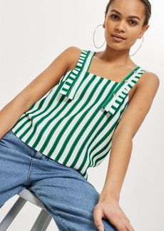 Topshop Striped Button Camisole Top