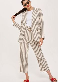Topshop Striped Cropped Trousers