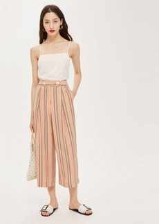 Topshop Striped High Waist Culottes
