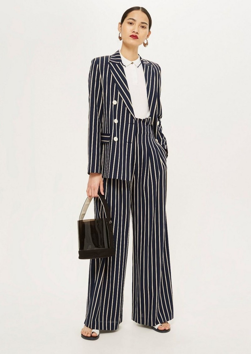 Topshop Striped Jacket
