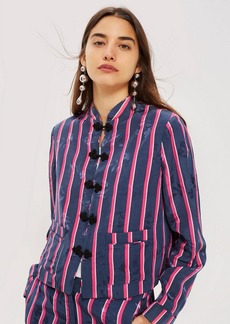 Topshop Striped Jacquard Jacket