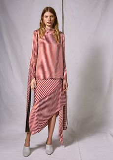 Striped Knot Skirt By Boutique