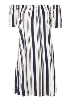 Striped Mini Bardot Dress