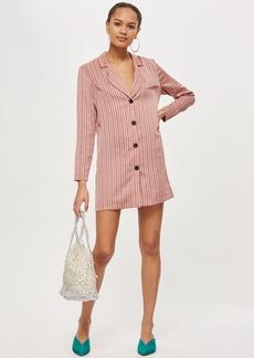 Topshop Striped Satin Shirt Dress