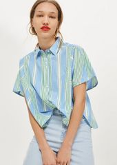Topshop Striped Short Sleeve Shirt