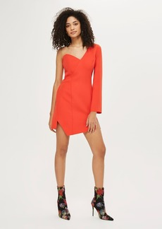 Topshop Structured One Shoulder Bodycon Dress