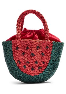 Topshop Sun Melon Straw Mini Tote