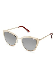 Topshop Super Girl Gold Sunglasses By Quay Australia