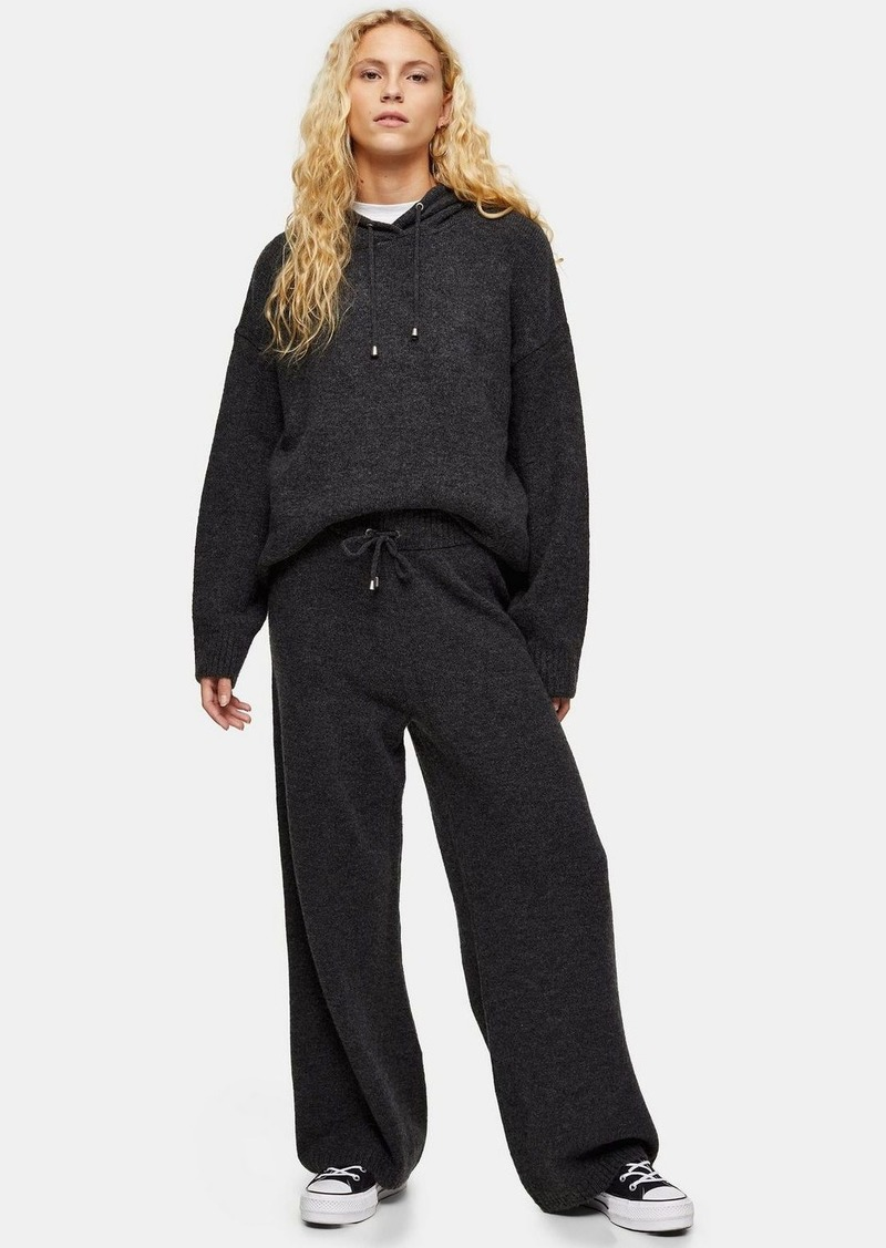 Topshop Charcoal Grey Super Soft Knitted Pants