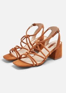 Topshop Sydney Tan Tubular Sandals