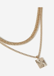 Topshop Bags Accessories /Jewelry /Tag Multi Chain Necklace