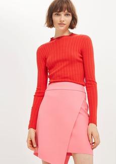 Tall Asymmetric Wrap Mini Skirt