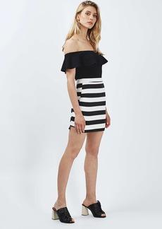 Tall Bold Stripe Mini Skirt