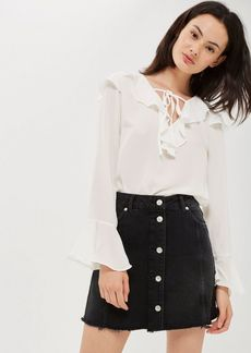 Topshop Tall Button Through Mini Skirt