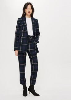 Topshop Tall Check Belted Trousers