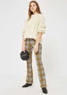 Tall Checked Flared Trousers