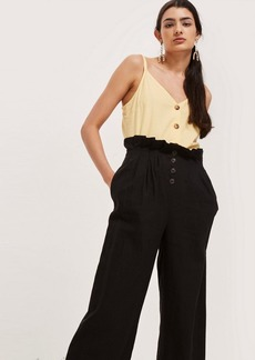 Topshop Tall Cropped Button Up Trousers