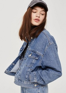 Topshop Tall Cropped Denim Jacket