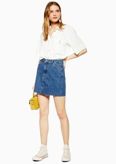 Topshop Tall Dark Denim Skirt