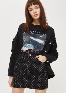 Tall Diamond Mini Denim Skirt