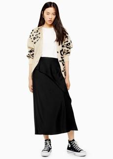 Topshop Tall Drape Satin Bias Skirt