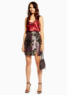 Topshop Tall Jacquard Skirt