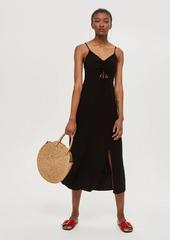 Topshop Tall Knot Front Midi Dress