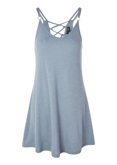 Topshop Tall Lace Up Back Swing Dress
