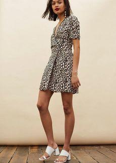 Topshop Tall Leopard Wrap Mini Dress