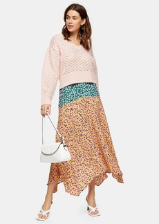 Topshop Tall Multi Mixed Floral Print Skirt