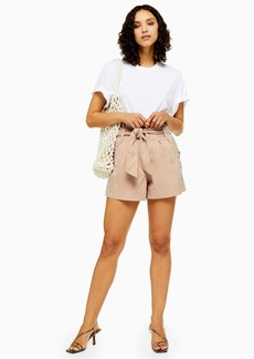 Topshop Tall Nude Utility Shorts